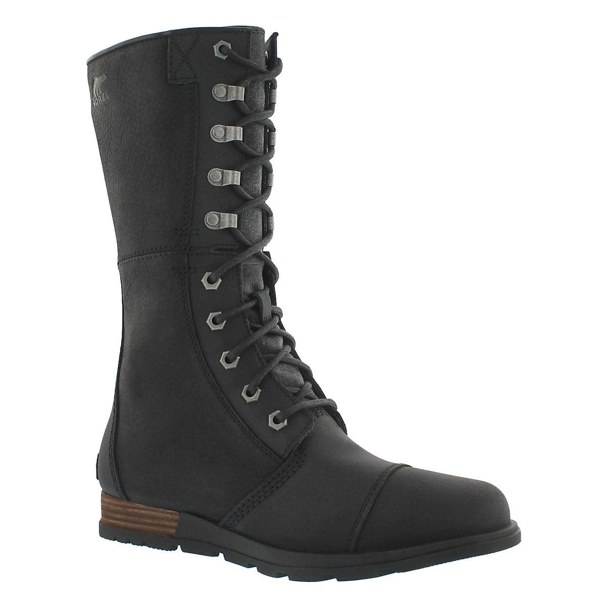 Lds Major Maverick blk mid-calf boot