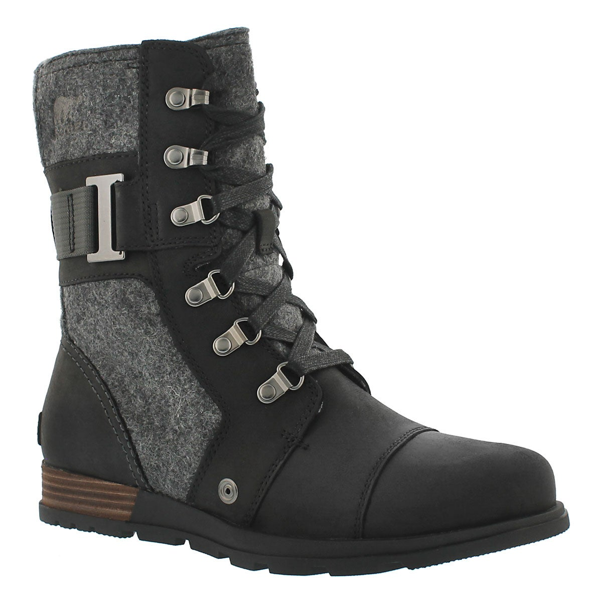 Women's MAJOR CARLY black lace up boots
