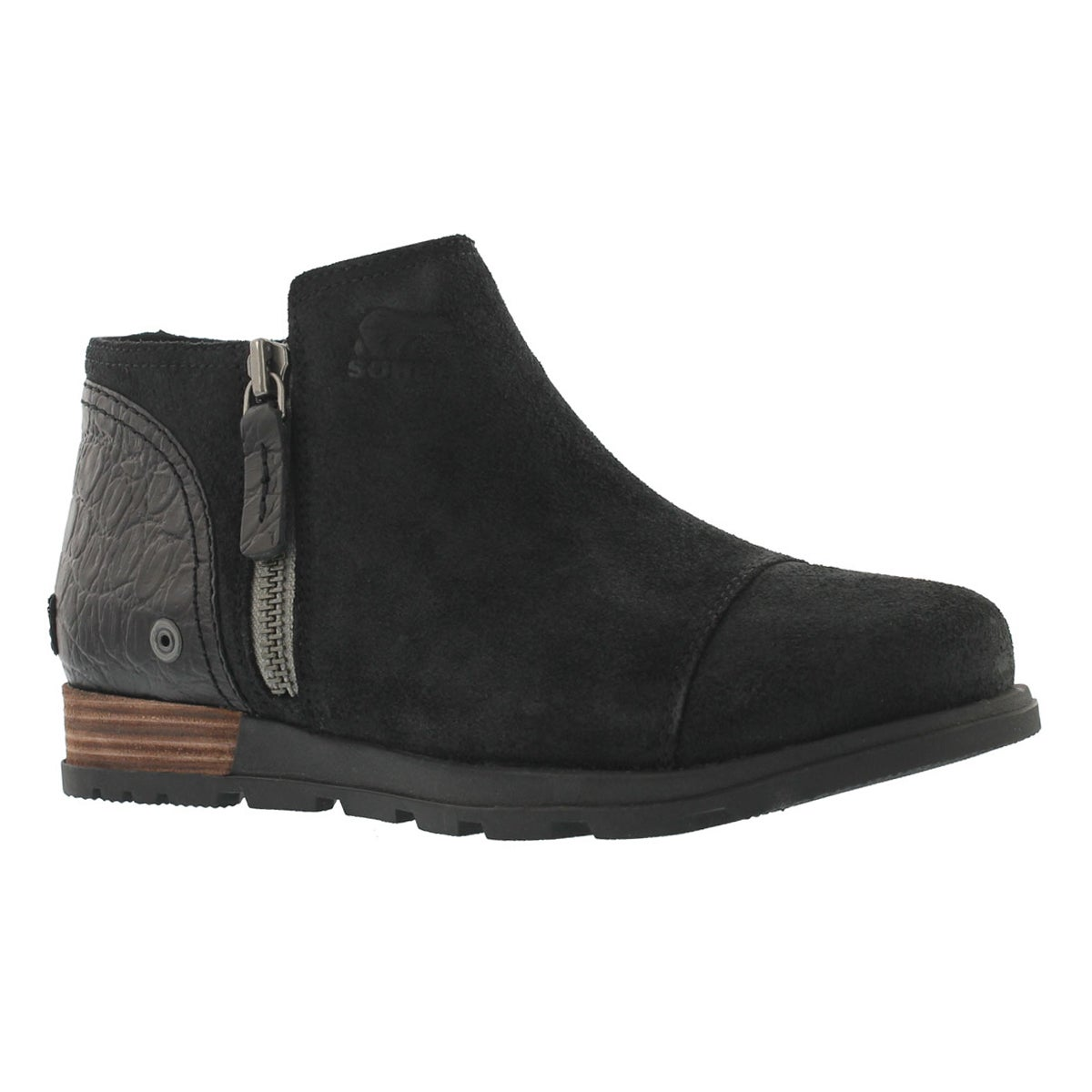 Lds Major Low black casual slip on