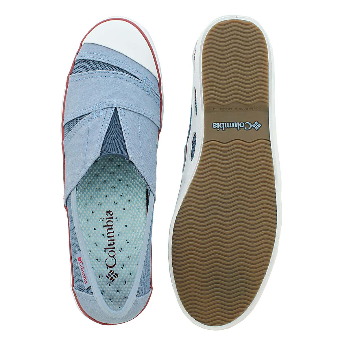Lds Vulc N Vent Slip blue slip on