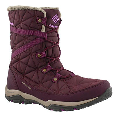 Columbia Women's LOVELAND MID OmniHeat purple boots