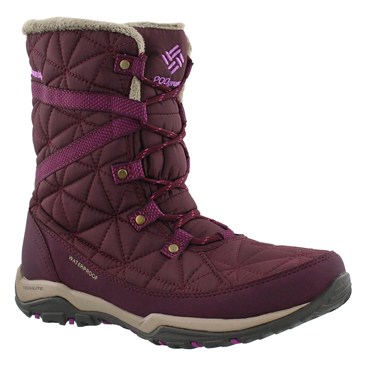 Women's LOVELAND MID OmniHeat purple boots