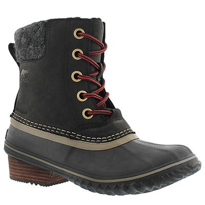 Sorel Women's SLIMPACK II LACE black waterproof boots