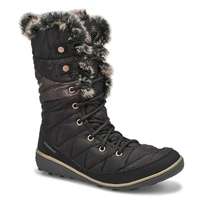 Columbia Women's HEAVENLY OmniHeat black snow boots