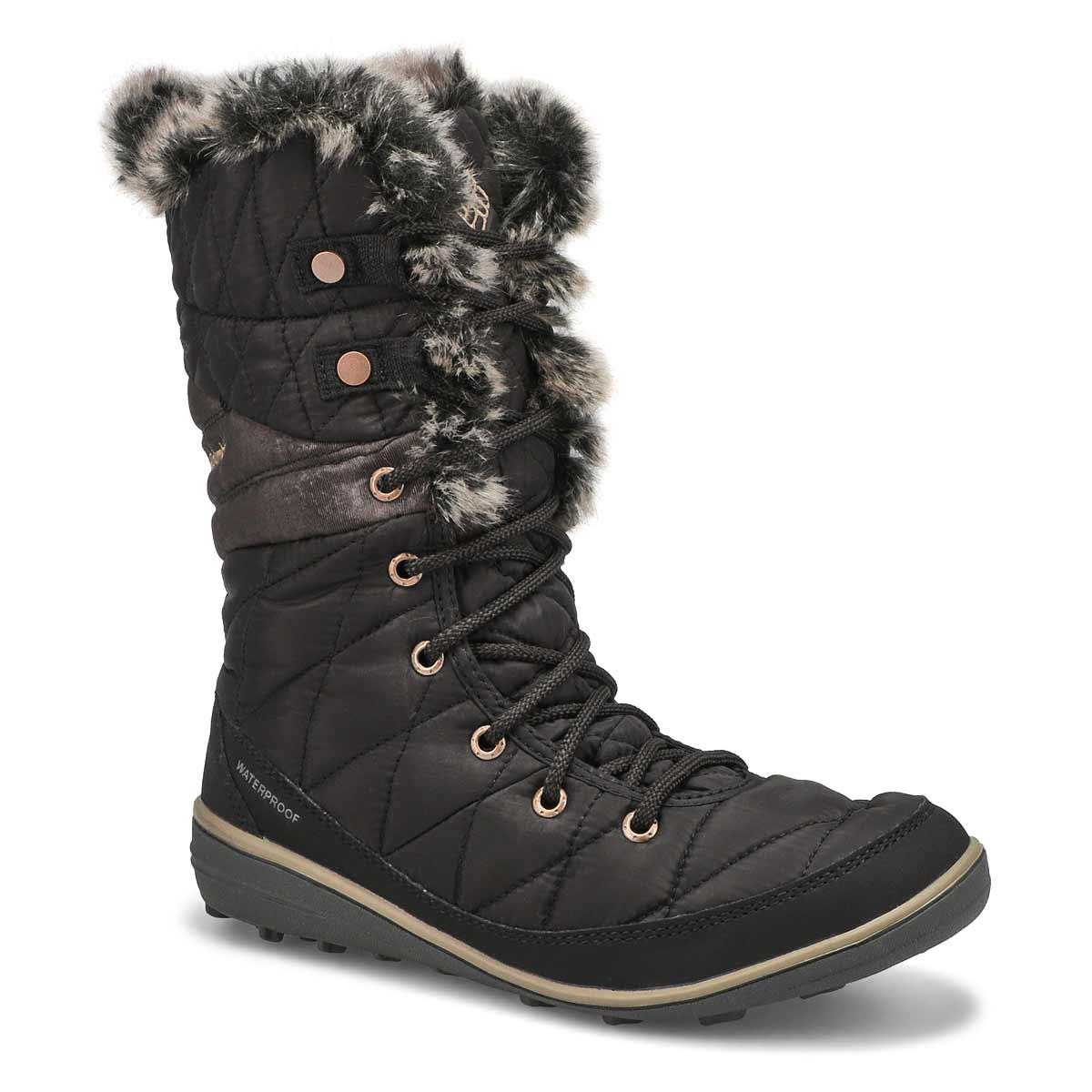 Lds Heavenly OmniHeat blk snow boot