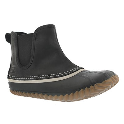 Sorel Women's OUT'N ABOUT CHELSEA black duckie boots