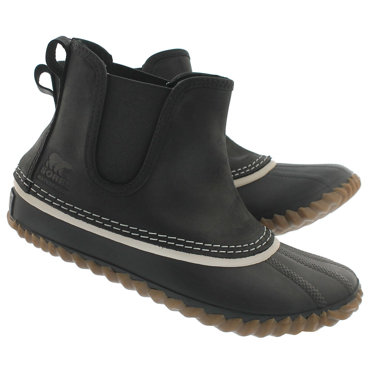 Lds Out'N About Chelsea blk duckie boot