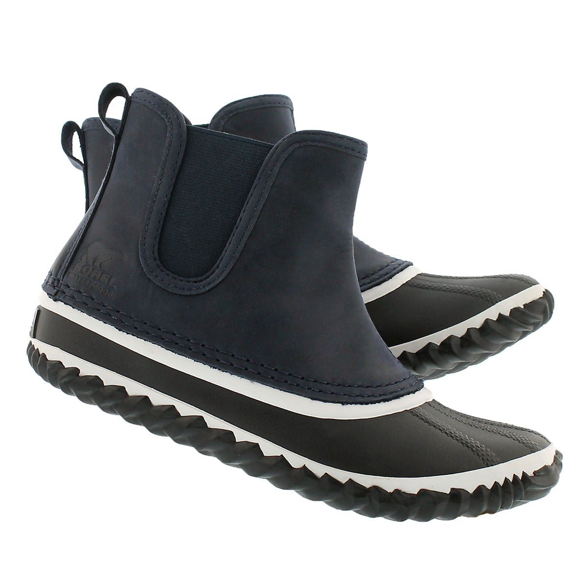 Lds Out'N AboutChelsea navy duckie boot
