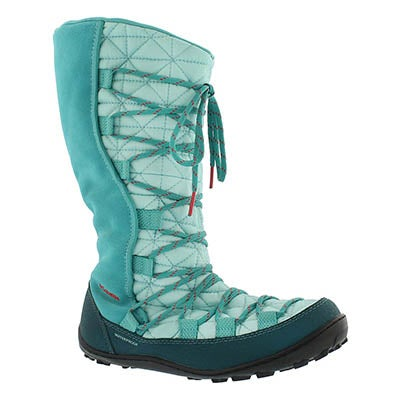 Columbia Girls' LOVELAND Omni-Heat turquoise tall boots