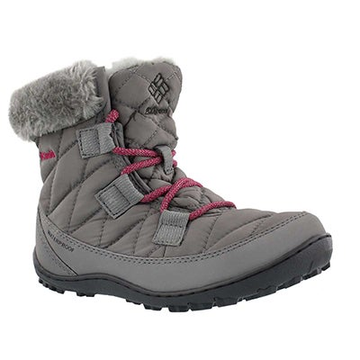 Columbia Girls' MINX SHORTY grey winter boots