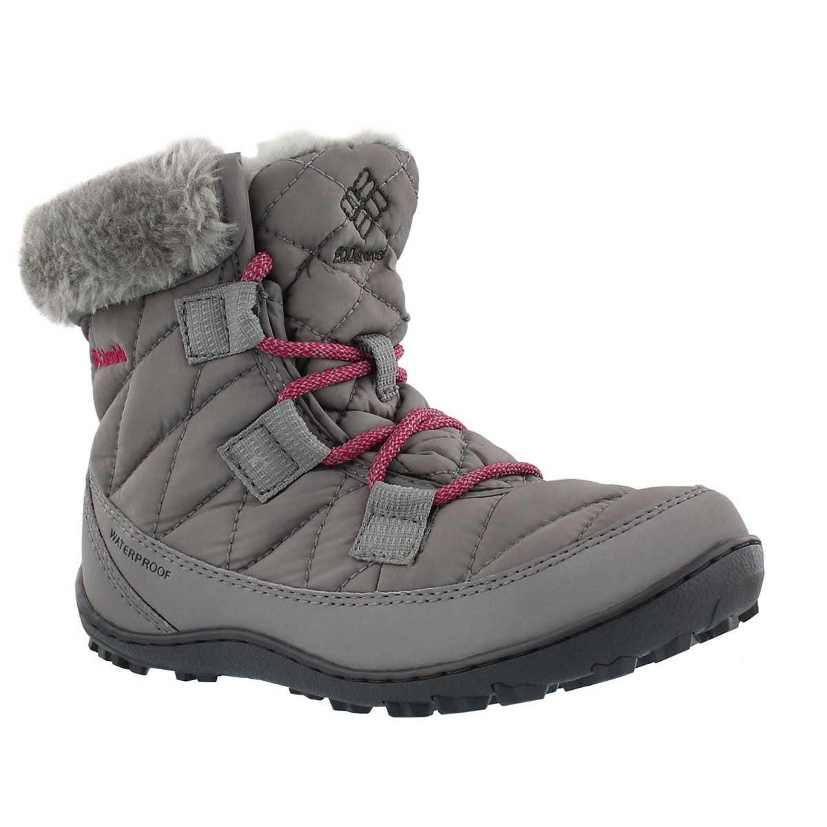 Girls' MINX SHORTY grey winter boots
