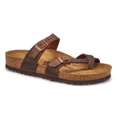 Birkenstock Women's MAYARI havana adjustable toe loop sandals