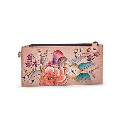 Painted lthr Vintage Garden wallet