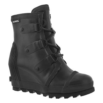 Lds Joan black wedge rainboot