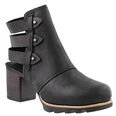 Lds Addington black open back bootie