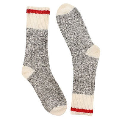 Women's grey/white wool blend heavy socks