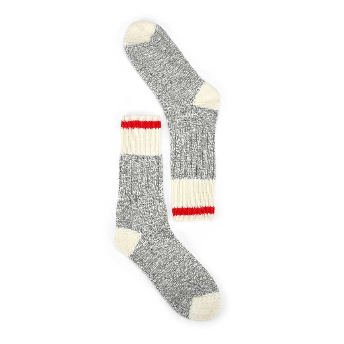 Chaussettes épaisses Duray, grs/blc, fem