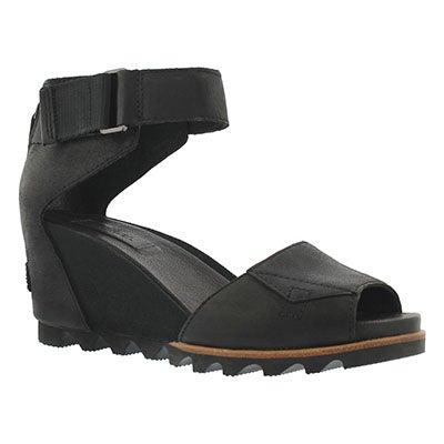 Lds Joanie black wedge sandal