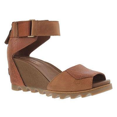 Lds Joanie rustic brown wedge sandal