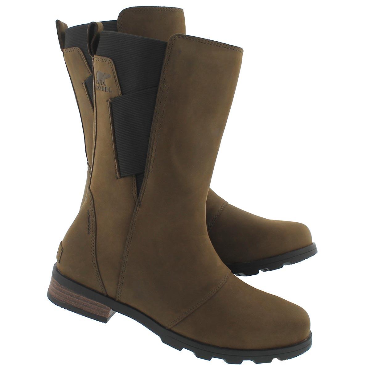 Lds Emelie Mid major/blk wtpf boot