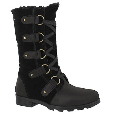 Lds Emelie Lace black waterproof boot