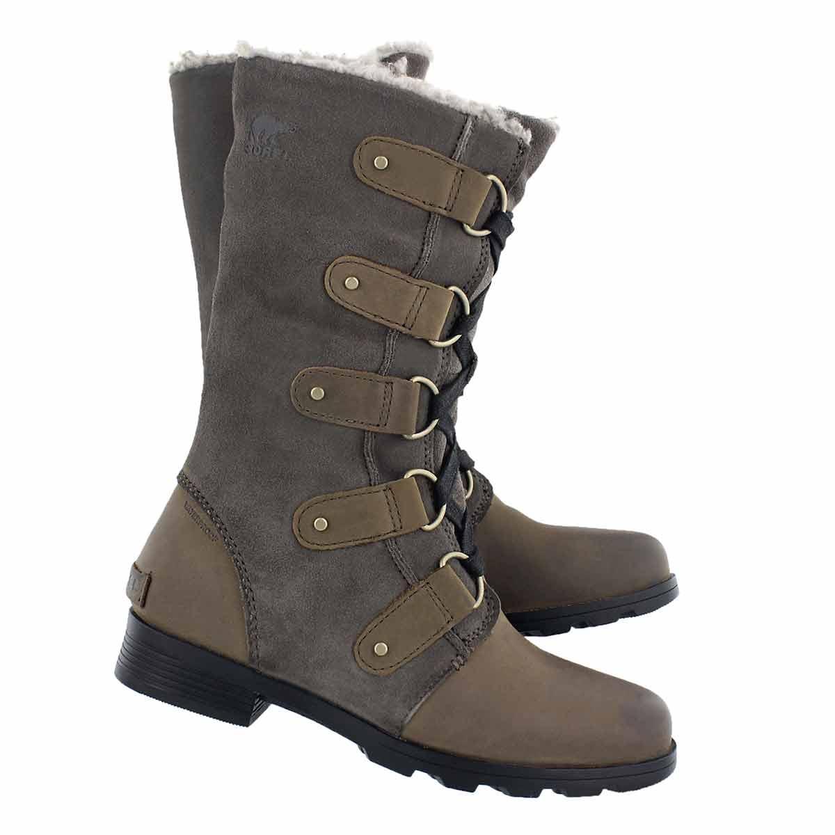 Lds Emelie Lace major/bk waterproof boot