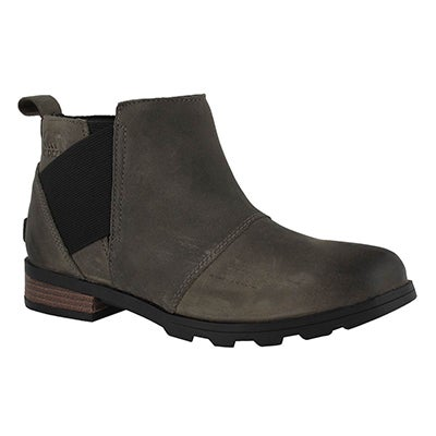 Lds Emelie qry/blk wtpf chelsea boot