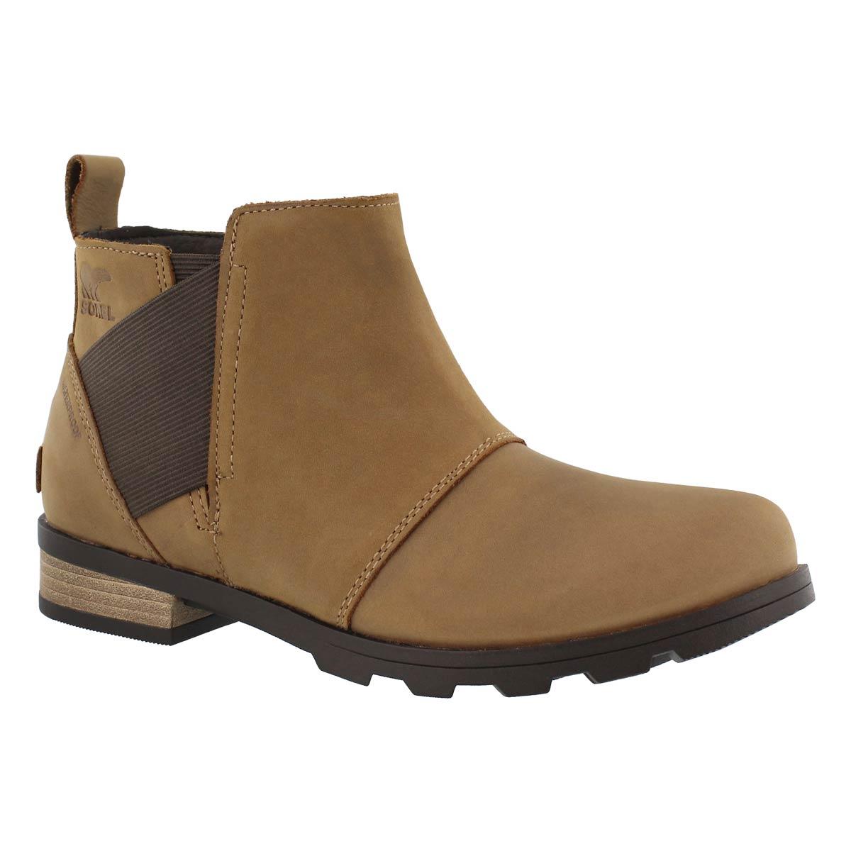 Women's EMELIE elk/crdvn waterproof chelsea boots