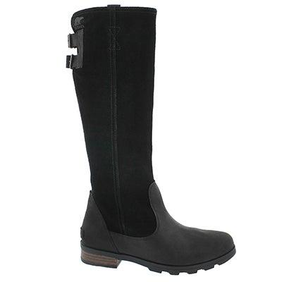 Lds Emelie Tall blk/dk fog wtpf boot