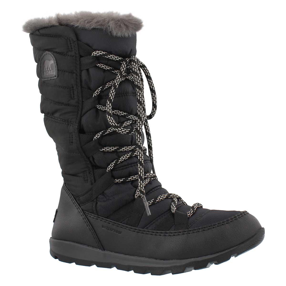 Women's WHITNEY LACE black waterproof winter boots