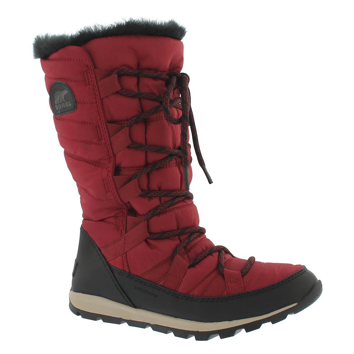 Women's WHITNEY LACE red waterproof winter boots