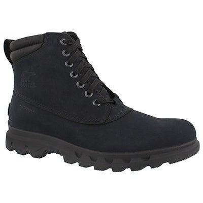 Mns Portzman Lace black wtpf ankle boot