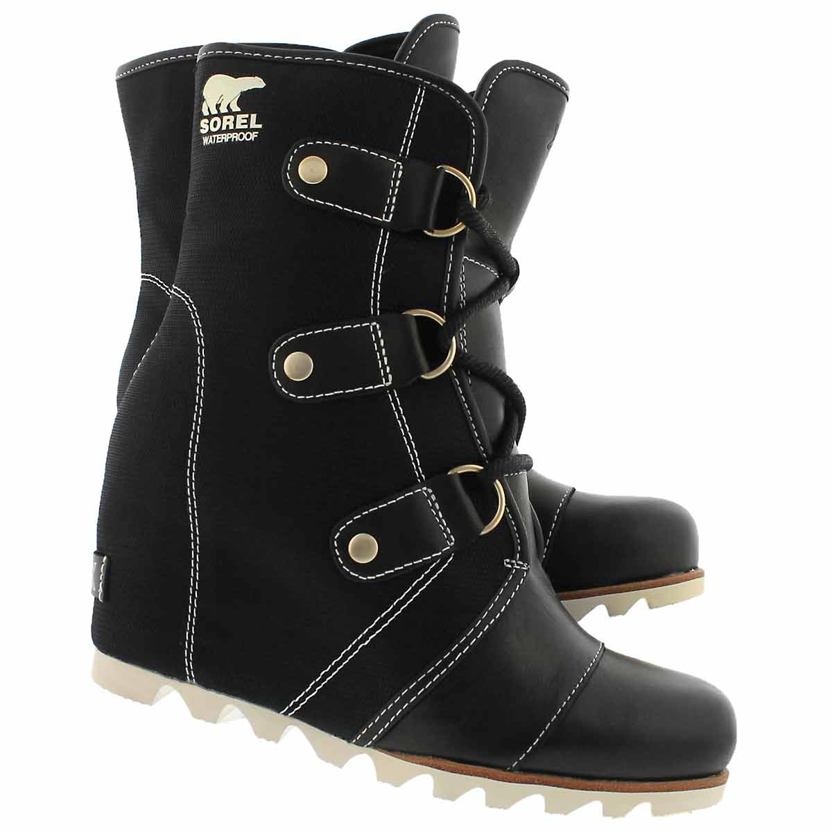 Lds Joan of Arctic X blk wtpf wedge boot