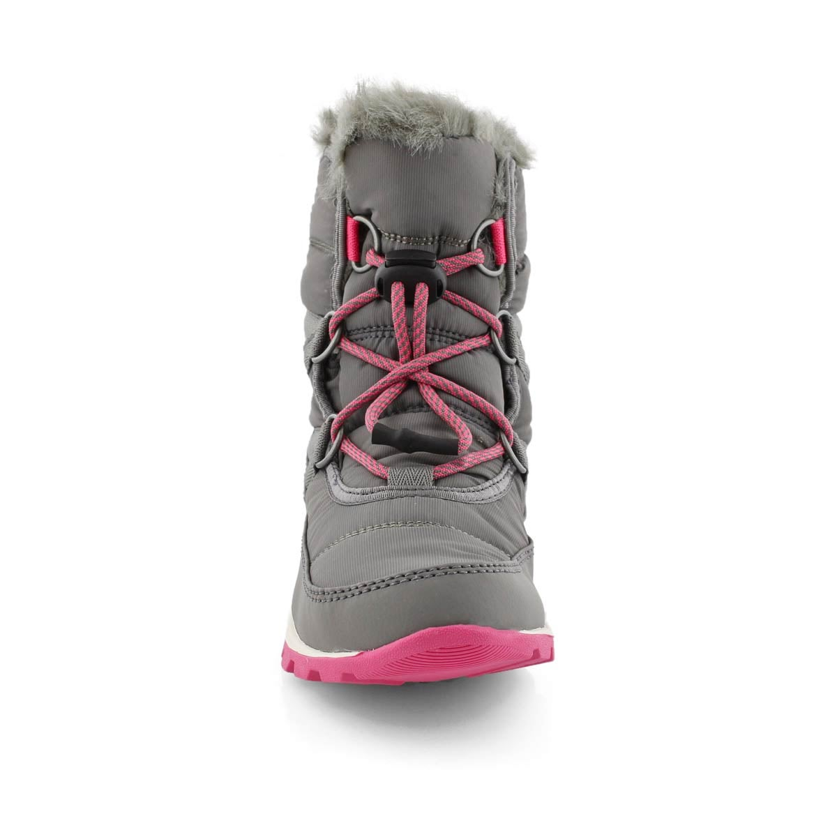 Grls Whitney Short Lace qry/pk snow boot