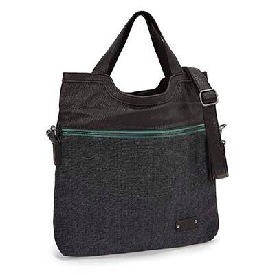 Pistil Women's CALL ME raven fold-over tote bag