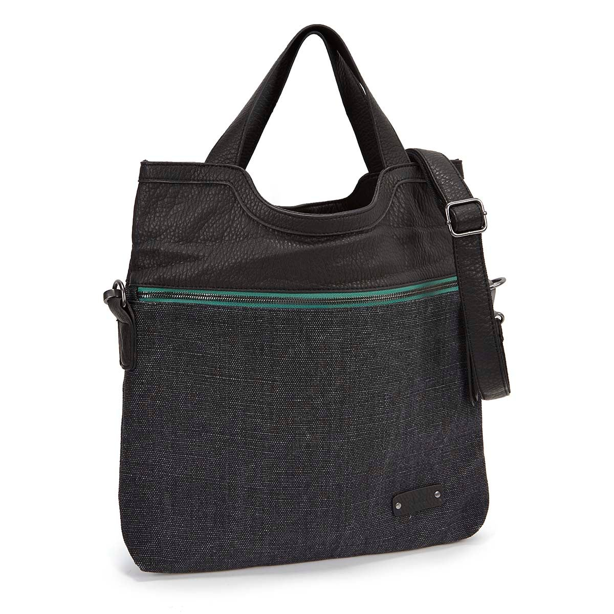 Lds Call Me raven fold-over tote