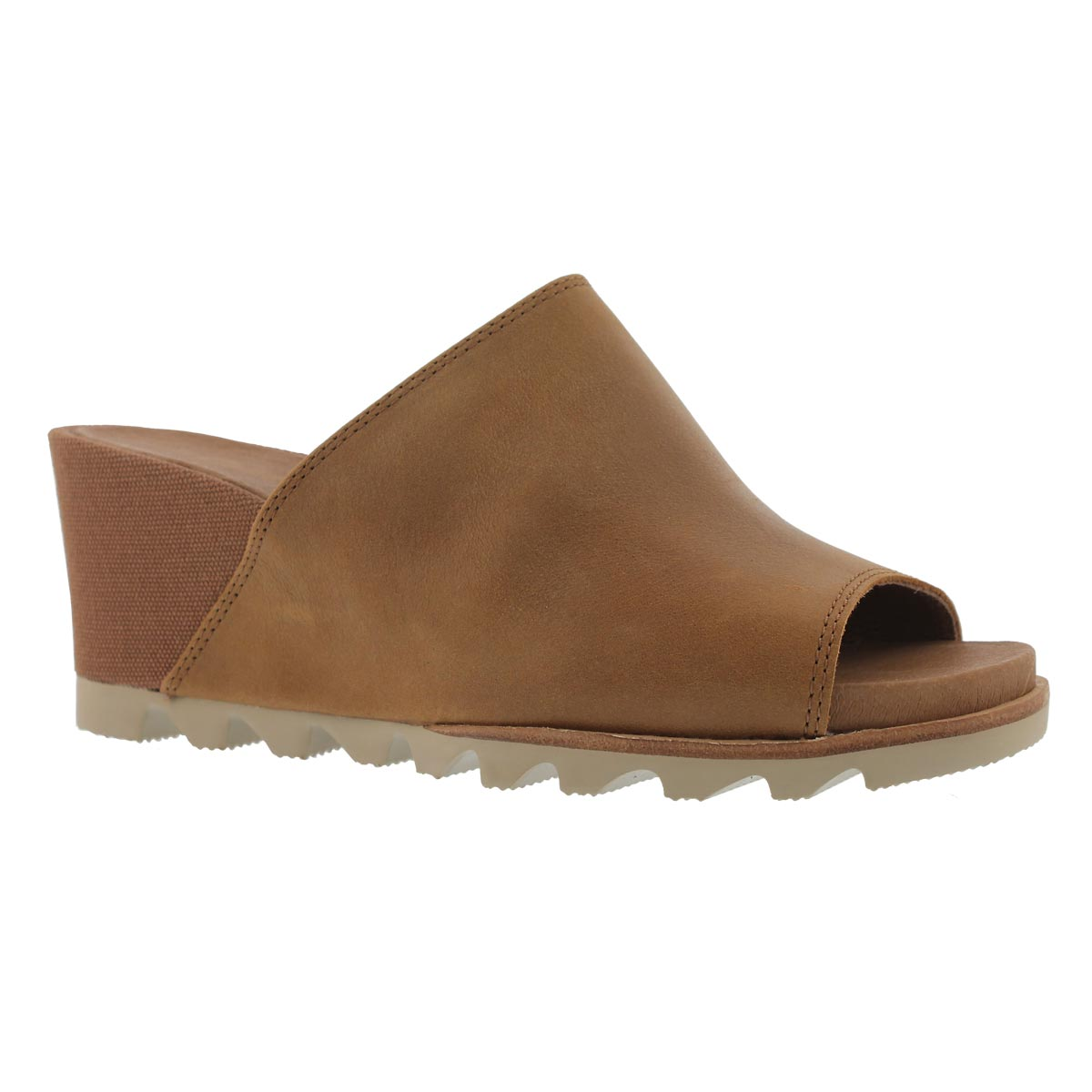 Women's JOANIE MULE II brown wedge sandals