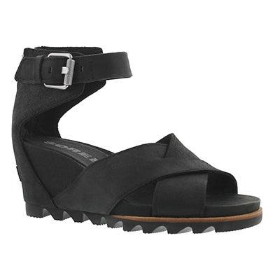 Lds Joanie II black wedge sandal