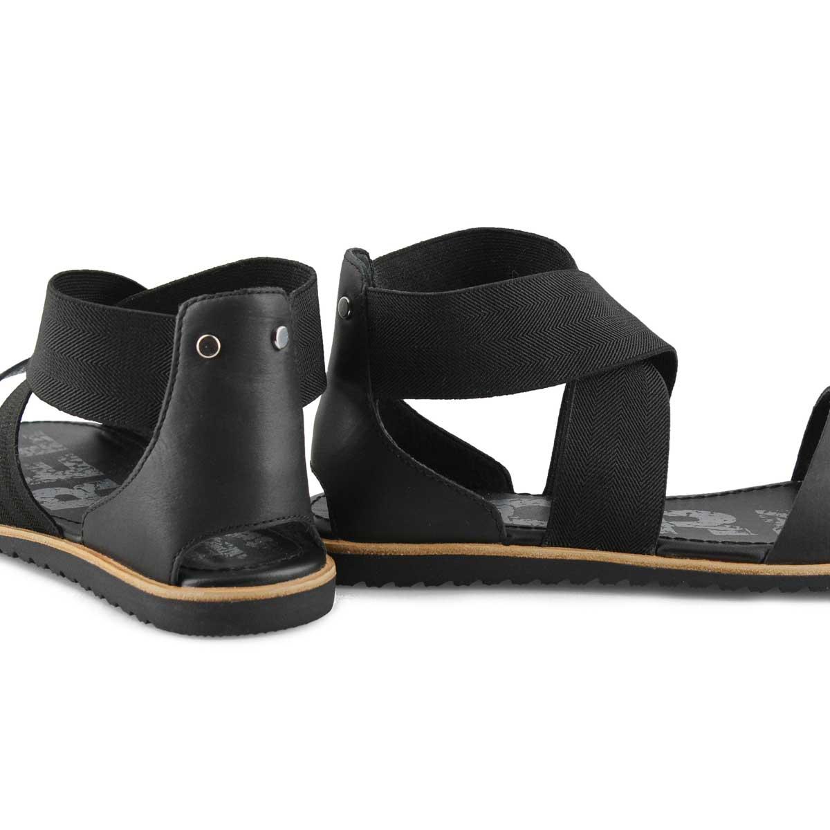 Lds Ella black casual sandal