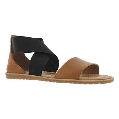 Lds Ella camel brown casual sandal