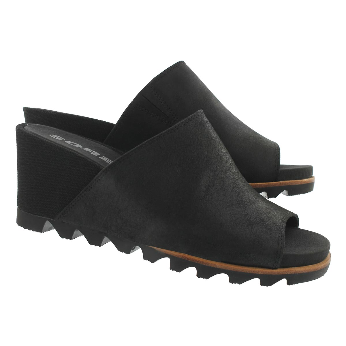 Lds Joanie Mule II black wedge sandal