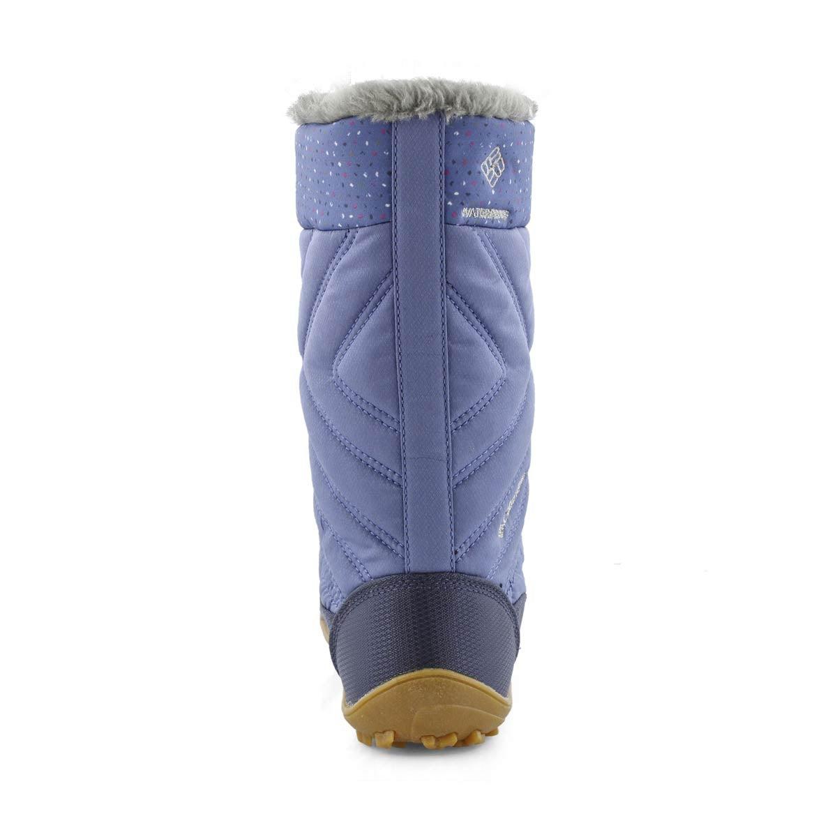 Grls Minx Mid III blu/pnk wtpf snow boot