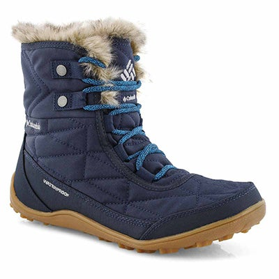 Lds Minx Shorty III nvy blue wp wtr boot