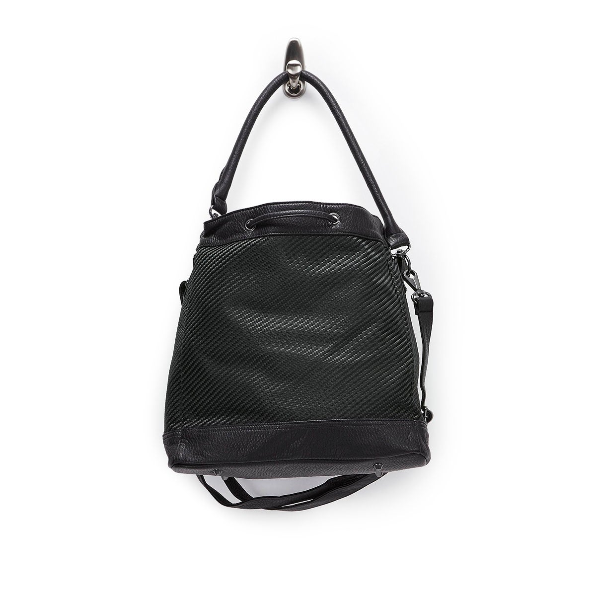 Lds Double Dare You blk bucket bag