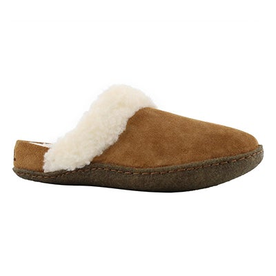 Lds Nakiska Slide II camel brown slipper