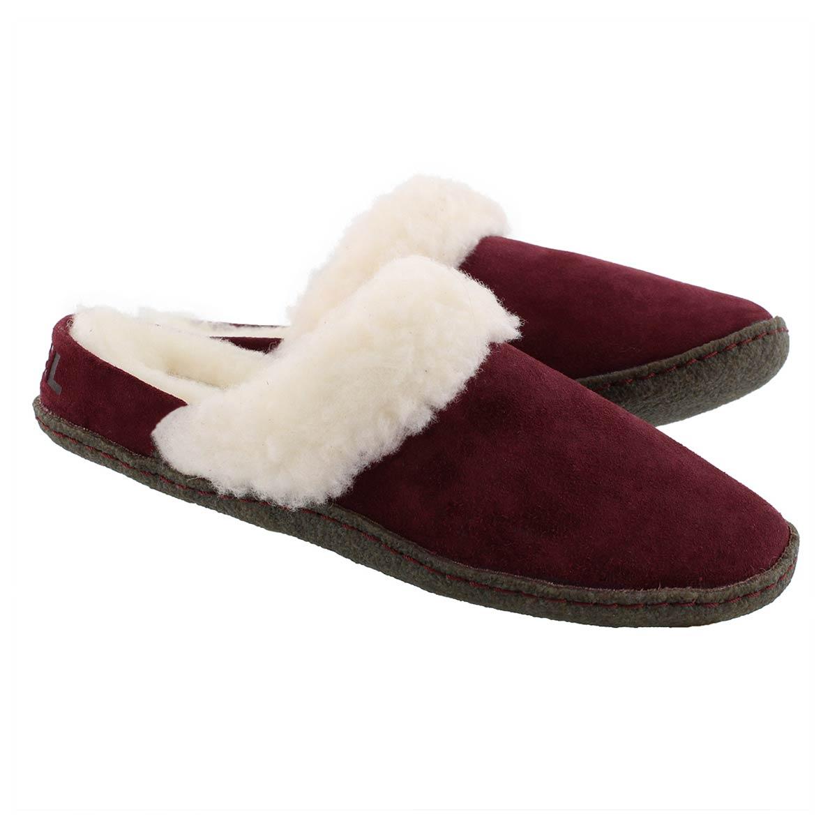 Lds Nakiska Slide II rich wine slipper
