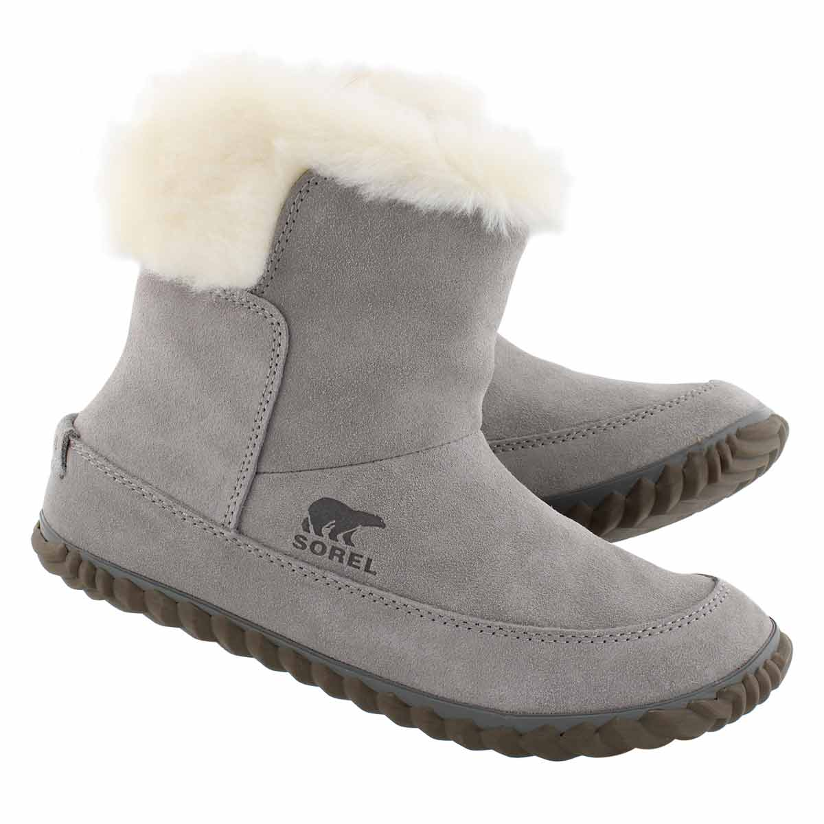 Lds Out'N About chrome gry casual bootie