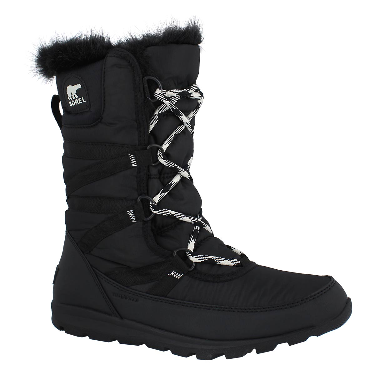Lds Whitney Tall Lace II bk wp wntr boot