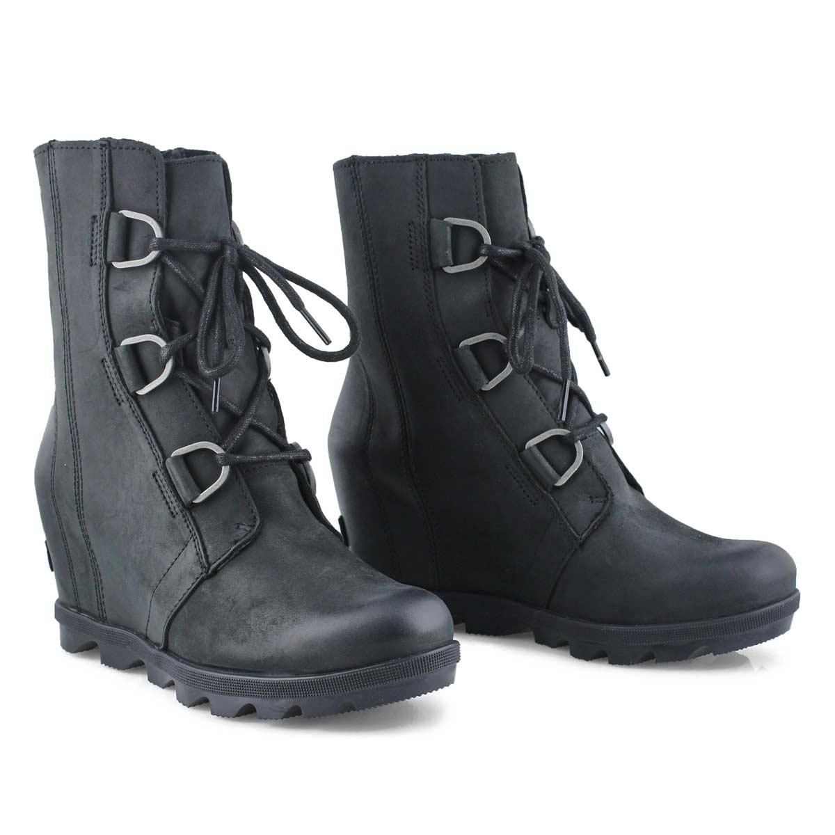Lds JoanOfArcticWedgeII black wtpf boot