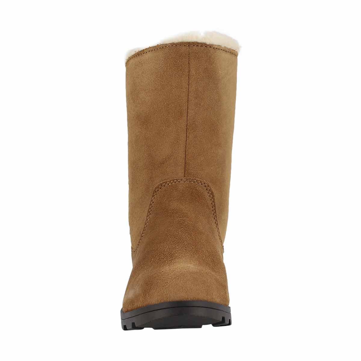 Grls Emelie Foldover cml brn casual boot